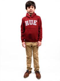 Little Boy Burgundy Fleece Hooded Sweatshirt