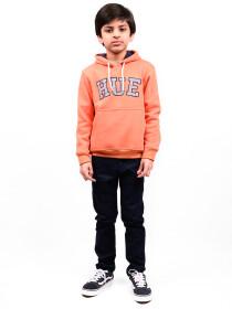 Little Boy Orange Fleece Hooded Sweatshirt