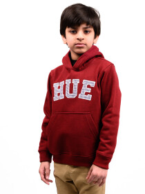 Big Boy Burgundy Fleece Hooded Sweatshirt