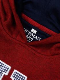 Big Boy Burgundy Fleece Hooded Sweatshirt