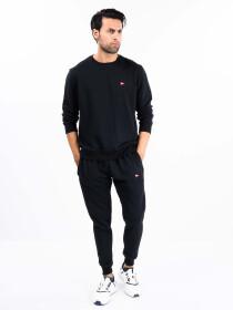 Men Black Terry Sweatsuits