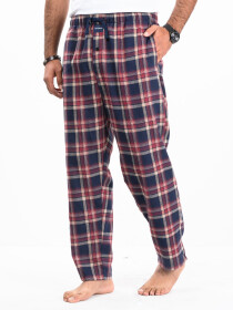 Flannel Plaid Black/Burgundy Relaxed Winter Pajama
