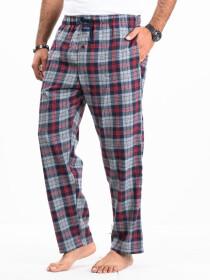Flannel Plaid Red/Grey Relaxed Winter Pajama