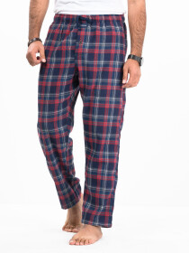 Flannel Plaid Red/Blue Relaxed Winter Pajama