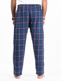 Flannel Plaid Blue/White Relaxed Winter Pajama