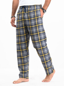 Flannel Plaid Grey/Yellow Relaxed Winter Pajama