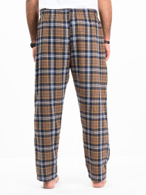 Flannel Plaid Brown/White Relaxed Winter Pajama