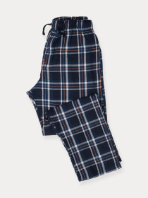 Flannel Plaid Navy/White Relaxed Winter Pajama