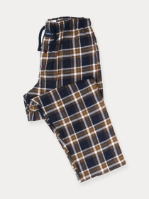 Flannel Plaid Navy/Brown Relaxed Winter Pajama