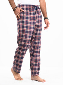 Flannel Plaid Maroon/Navy Relaxed Winter Pajamas
