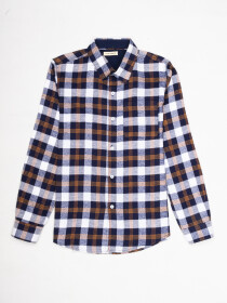 Boys Multi Plaid Full Sleeve Flannel Shirt