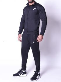 FIREOX Activewear Tracksuit, Plain Black