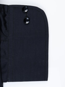 Men Cotton Black Full Sleeve Plain Formal Shirt