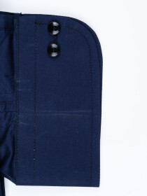 Men Cotton Navy Blue Full Sleeve Plain Formal Shirt