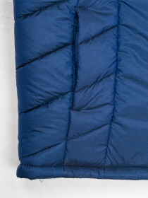 Men Navy Blue Sleeveless Puffer Gilet Jacket