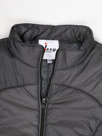Men Grey Sleeveless Puffer Gilet Jacket
