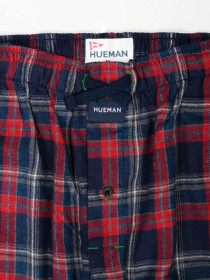 Men's Red & Navy Flannel Relaxed Pajama - Pack of 2