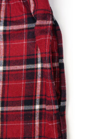 Men's Red & Grey Flannel Relaxed Pajama - Pack of 2