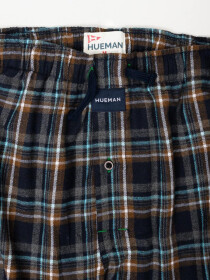 Men's Navy & Black Flannel Relaxed Pajama - Pack of 2
