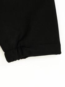 Black Stand Up Collar Soft Shell Little Boy Jacket