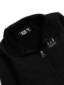 Black Stand Up Collar Soft Shell Big Boy Jacket
