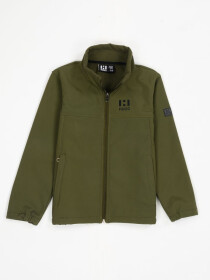 Olive Stand Up Collar Soft Shell Big Boy Jacket