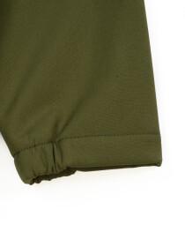 Olive Stand Up Collar Soft Shell Big Boy Jacket