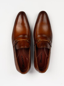Men's Genuine Brown Leather Handmade Shoes