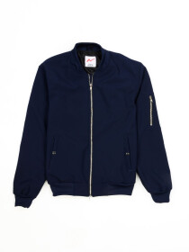 Super Soft Navy Blue Bomber Jacket