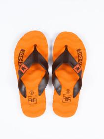 Orange Durable Flip-Flop For Men