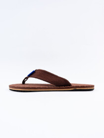 Brown Men Designed Flip-Flop