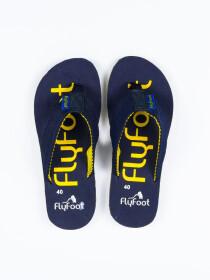 Space Blue Men Designed Flip-Flop