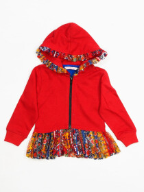 CUTE ZIP UP FRILL HOODIE FOR GIRLS
