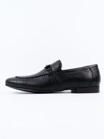 Antique Penny Buckle Loafer Men's Shoe Black