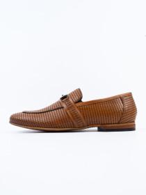 Antique Penny Buckle Loafer Men's Shoe Tan