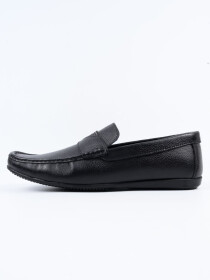 Black Relaxed Fit Loafer Men's Shoe