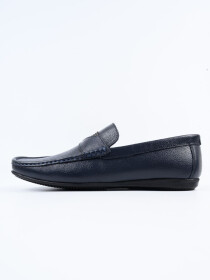 Navy Blue Relaxed Fit Loafer Men's Shoe