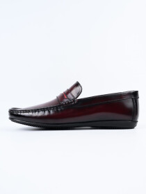 Maroon Relaxed Fit Loafer Men's Shoe