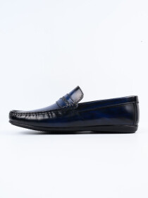 Blue Relaxed Fit Loafer Men's Shoe