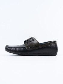 Black Relaxed Fit Loafer Men's Lace Up Shoe