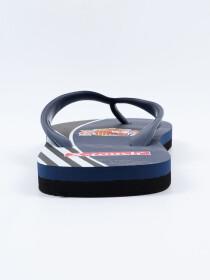 Men Navy Blue & Black Comfort Flip Flop