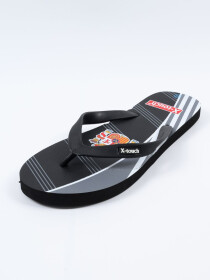 Men Black & Grey Comfort Flip Flop