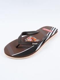 Men Brown & Black Comfort Flip Flop