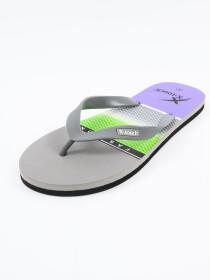 Men Grey & Black Comfort Flip Flop