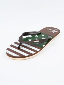 Men Brown & Beige Comfort Flip Flop
