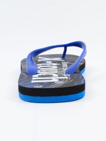 Men Blue & Black Comfort Flip Flop
