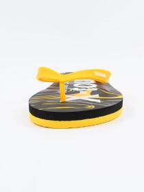 Men Yellow & Black Comfort Flip Flop
