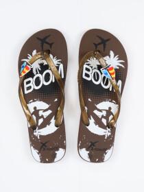 Women Brown & White Comfort Flip Flop
