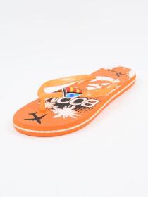 Women Orange & White Comfort Flip Flop