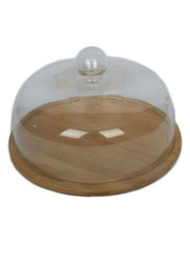 Cake Dish Wood Fancy